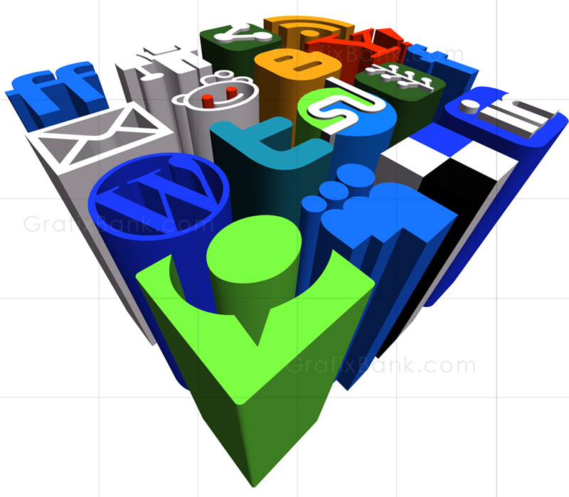 3D Marketing Graphics-Social Media Icons