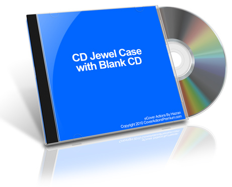 CD Jewel Case with Blank CD Action Script Set