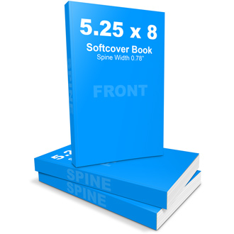 5.25 x 8 Softcover Book Mockup Template