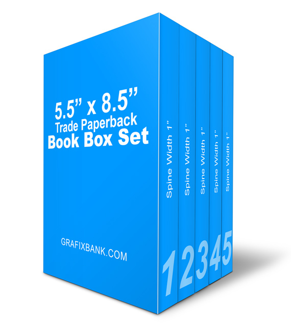 5 Book Box Set Mockup- 5.5 x 8.5