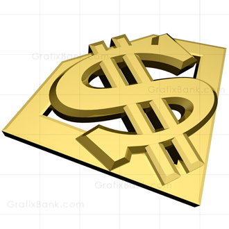 Super Dollar Sign 3D Graphic